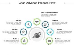 Cash Advance Process Flow Ppt Powerpoint Presentation Show Deck Cpb