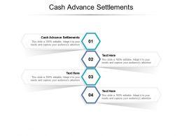 Cash Advance Settlements Ppt Powerpoint Presentation Icon Show Cpb