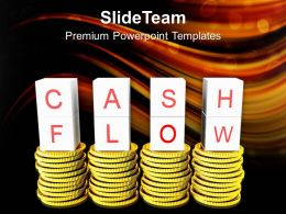Cash And Flow On Golden Coins Failure PowerPoint Templates PPT Themes And Graphics 0213