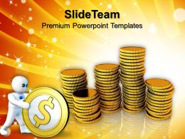 Cash Coins Finance Powerpoint Templates And Themes Business Concept Presentation
