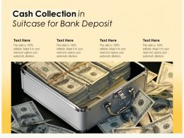Cash Collection In Suitcase For Bank Deposit