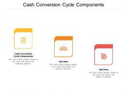Cash Conversion Cycle Components Ppt Powerpoint Presentation Slides Graphics Design Cpb