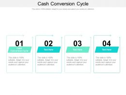 Cash Conversion Cycle Ppt Powerpoint Presentation File Formats Cpb