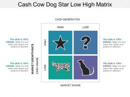 Cash Cow Dog Star Low High Matrix