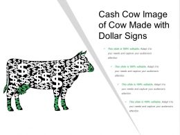 Cash Cow Image Of Cow Made With Dollar Signs