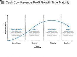 Cash Cow Revenue Profit Growth Time Maturity