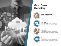 Cash Cows Marketing Ppt Powerpoint Presentation Model Layout Cpb