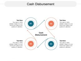 Cash Disbursement Ppt Powerpoint Presentation Model Samples Cpb