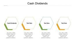 Cash Dividends Ppt Powerpoint Presentation File Design Templates Cpb