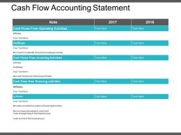 Cash Flow Accounting Statement Powerpoint Show