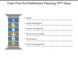Cash Flow And Retirement Planning Ppt Ideas