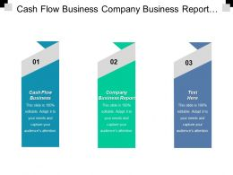 Cash Flow Business Company Business Report Innovation Business Cpb