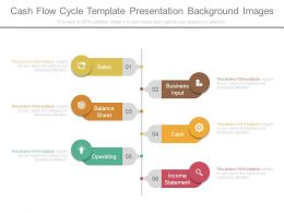 Cash Flow Cycle Template Presentation Background Images
