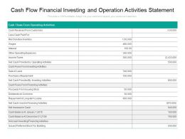Cash Flow Financial Investing And Operation Activities Statement