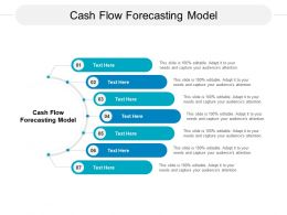 Cash Flow Forecasting Model Ppt Powerpoint Presentation Inspiration Influencers Cpb
