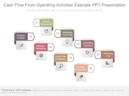 Cash Flow From Operating Activities Example Ppt Presentation