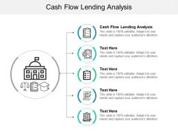 Cash Flow Lending Analysis Ppt Powerpoint Presentation File Background Cpb