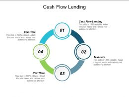 Cash Flow Lending Ppt Powerpoint Presentation Infographics Clipart Cpb
