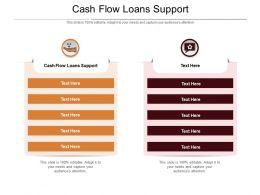 Cash Flow Loans Support Ppt Powerpoint Presentation Portfolio Pictures Cpb