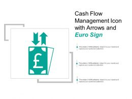 Cash Flow Management Icon With Arrows And Euro Sign