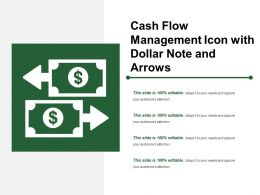 Cash Flow Management Icon With Dollar Note And Arrows