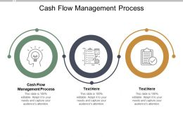 Cash Flow Management Process Ppt Powerpoint Presentation Infographics Cpb