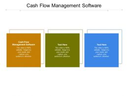 Cash Flow Management Software Ppt Powerpoint Presentation Summary Examples Cpb