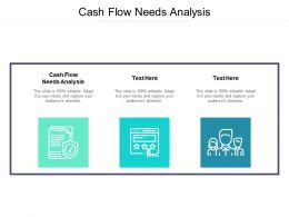 Cash Flow Needs Analysis Ppt Powerpoint Presentation Visual Aids Cpb
