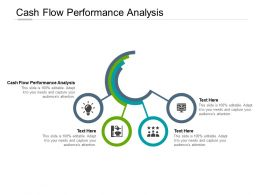 Cash Flow Performance Analysis Ppt Powerpoint Presentation Model Graphics Cpb