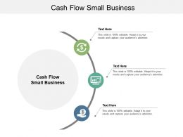 Cash Flow Small Business Ppt Powerpoint Presentation Model Display Cpb