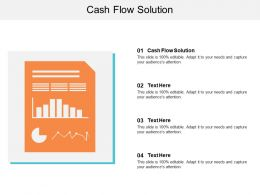 Cash Flow Solution Ppt Powerpoint Presentation Icon Introduction Cpb