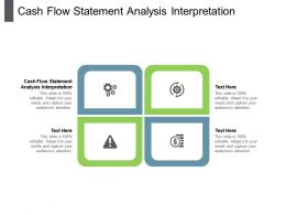 Cash Flow Statement Analysis Interpretation Ppt Powerpoint Presentation Styles Layouts Cpb