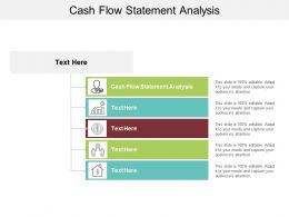 Cash Flow Statement Analysis Ppt Powerpoint Presentation Professional Infographic Template Cpb