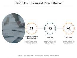 Cash Flow Statement Direct Method Ppt Powerpoint Presentation Clipart Cpb