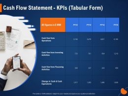 Cash Flow Statement KPIS Tabular Form Investing Ppt Powerpoint Presentation Styles Graphics Example