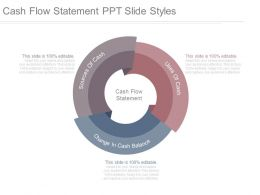 Cash Flow Statement Ppt Slide Styles
