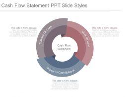 Cash Flow Statement Ppt Slide Styles