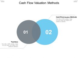 Cash Flow Valuation Methods Ppt Powerpoint Presentation Show Images Cpb