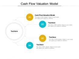 Cash Flow Valuation Model Ppt Powerpoint Presentation File Slides Cpb