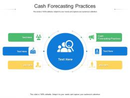 Cash Forecasting Practices Ppt Powerpoint Presentation Icon Design Inspiration Cpb