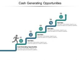 Cash Generating Opportunities Ppt Powerpoint Presentation Ideas Example Cpb