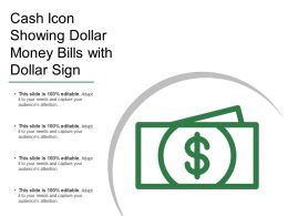Cash Icon Showing Dollar Money Bills With Dollar Sign