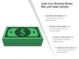 Cash Icon Showing Money Bills With Dollar Symbol