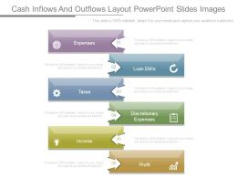 Cash Inflows And Outflows Layout Powerpoint Slides Images