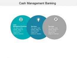 Cash Management Banking Ppt Powerpoint Presentation Portfolio Graphics Cpb