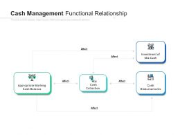 Cash Management Functional Relationship