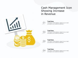 Cash Management Icon Showing Increase