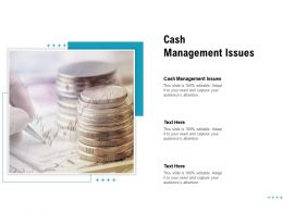 Cash Management Issues Ppt Powerpoint Presentation Styles Files Cpb