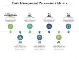 Cash Management Performance Metrics Ppt Powerpoint Presentation Slides Background Cpb