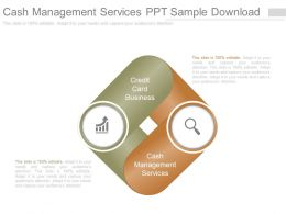 Cash Management Services Ppt Sample Download